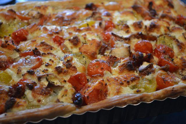 Eet lekker: Tomatentaart met geitenkaas