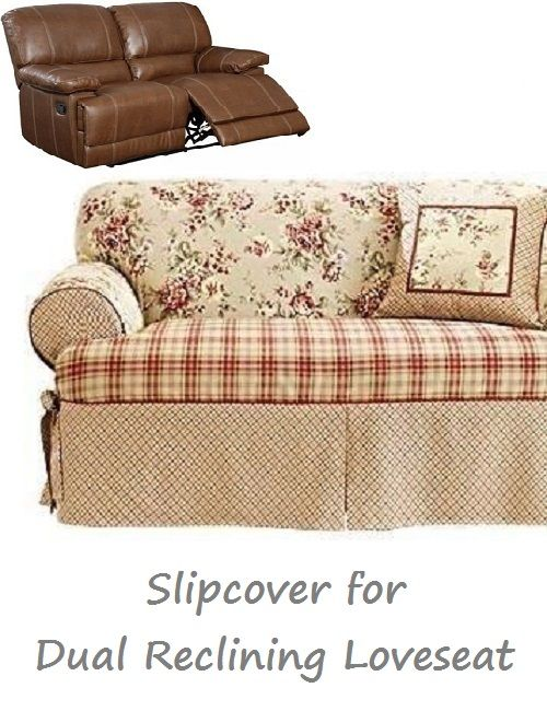 Dual Reclining LOVESEAT Slipcover T Cushion Shabby Toile Red adapted for Recliner Love Seat  sc 1 st  Pinterest & Best 25+ Dual reclining loveseat ideas on Pinterest | Lazy boy ... islam-shia.org