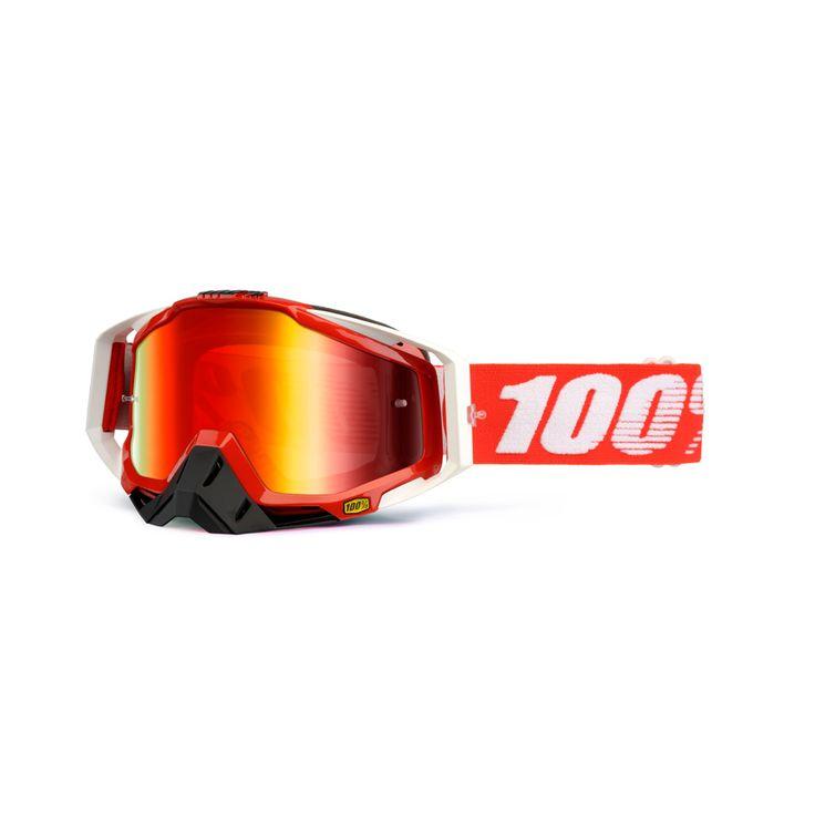 2014 100 Racecraft Motocross Goggles - Fire Red - 2014 100 Racecraft Motocross Goggles - 2014 100 Motocross Goggles - 2014