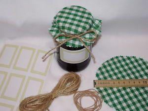 a guinga jam cubre x 12 verde incluye bandas de etiquetas adhesivas tarro twine x12