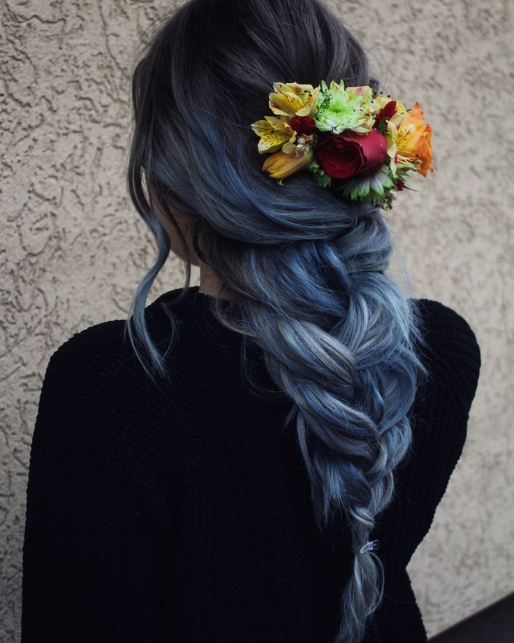 Blue hair #blue #hairstyles #hair  #bluehair