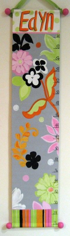 Hand Painted Modern Growth Chart by SassyfrasDesignz on Etsy, $59.99