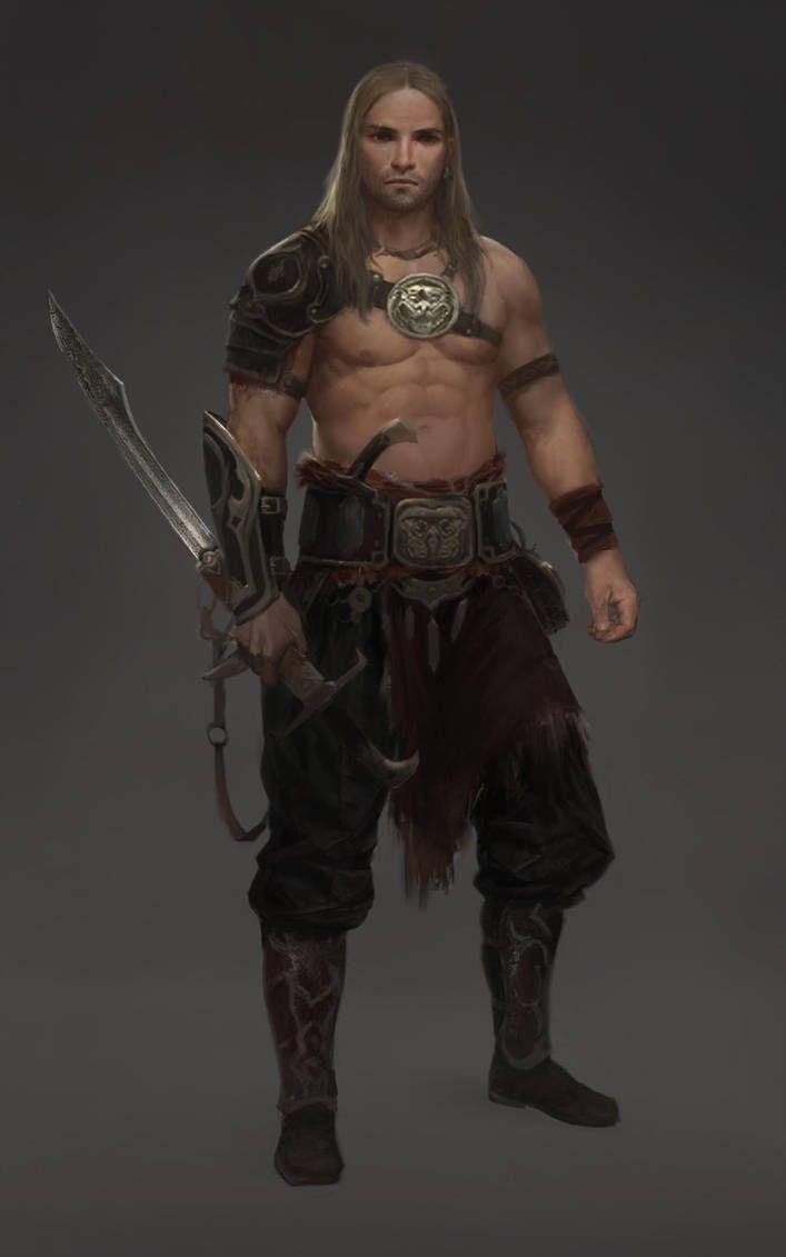 Barbarian Armor Fantasy Art