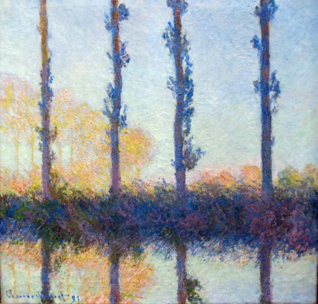 The Four Trees, (Four Poplars on the Banks of the Epte River near Giverny), 1891, Metropolitan Museum of Art