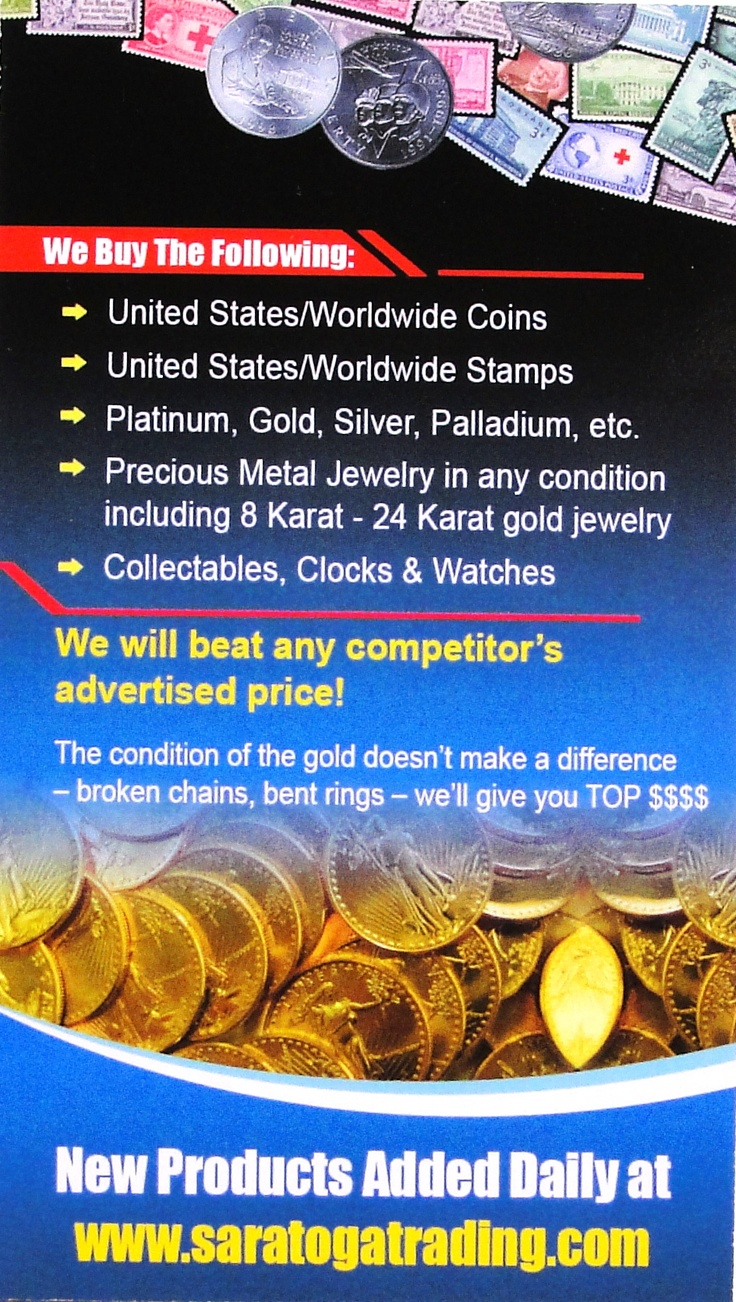Saratoga Trading Company, Inc.  Improve your economy with professional auction services.  www.saratogatrading.com