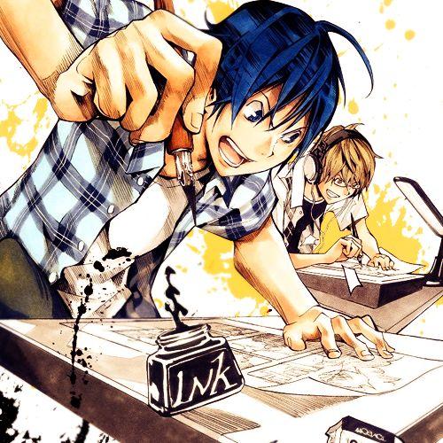 Рисунки аниме бакуман