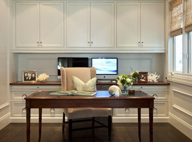 Home Office. Home Office Cabinet. Home Office Cabinet Ideas. #HomeOffice #HomeOfficeCabinet  Barclay Butera Interiors.