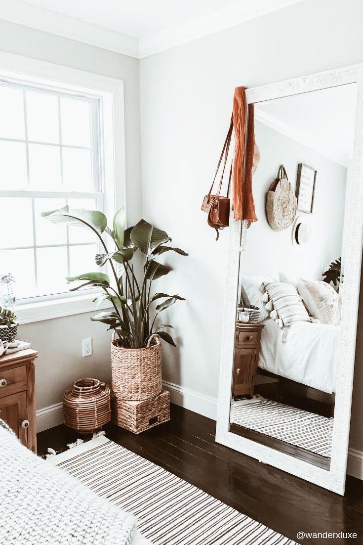 Modern Full Length Mirror Bedroom Decor Room Ideas Bedroom Chic Bedroom