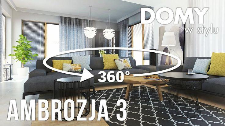 Panorama wnętrz w projekcie Ambrozja 3. Pełna prezentacja projektu dostępna jest na stronie: https://www.domywstylu.pl/projekt-domu-ambrozja_3.php. #projekty #projekt #projektdomu #projektygotowe #architektura #dom #domparterowy #architecture #design #homedesign #house #home #wnetrza #insides #interiors #video #film #ambrozja #domywstylu #mtmstyl