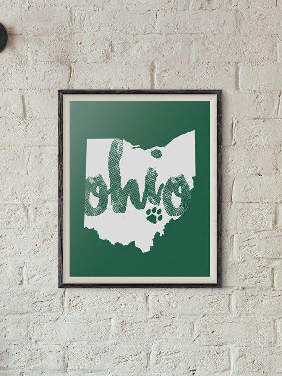 8x10 Ohio University Digital Print Ohio University by iGotPrints