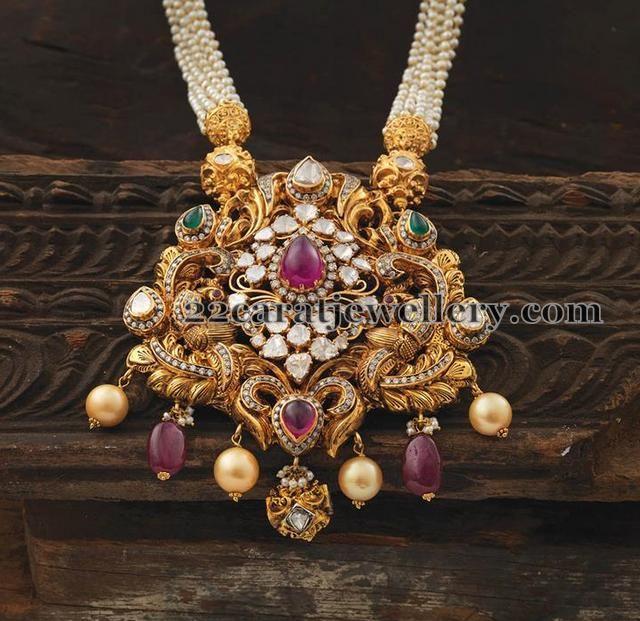 Peacock Lakshmi Pendant - Jewellery Designs