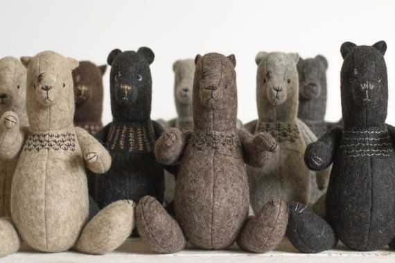 Wholesale Soft Toys - Set of 10 Different Stuffed Bears - ForestMisha - Stuffed Animals - Artist Bears - Felted Teddy Bears