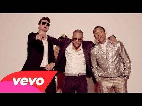 """One of the MOST fun videos ever! Robin Thicke should be on everyone's playlists... such an original and talented musician.. Pharrell is just a GENIUS  Robin Thicke - """"Blurred Lines"""" ft. T.I. & Pharrell"""