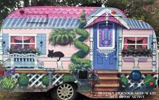 Jolies caravanes décorées peintures originales | DECORATION ...