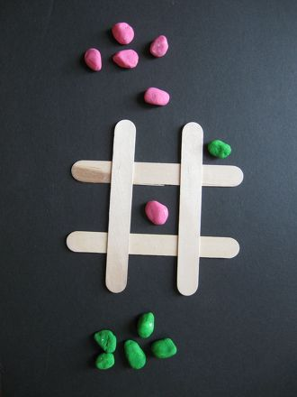 Activities: Popsicle Stick Tic-Tac-Toe