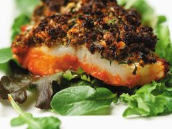 Whitefish with herb duxelles