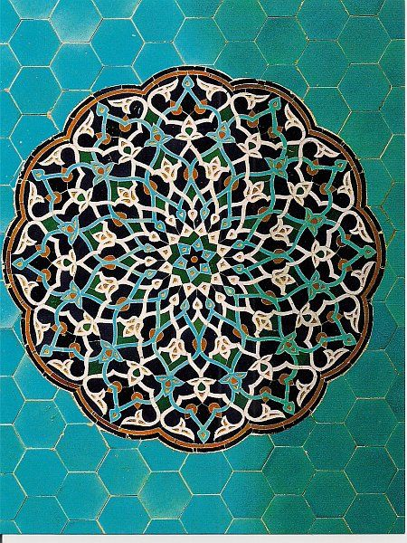 Tile work, Isfahan, Iran