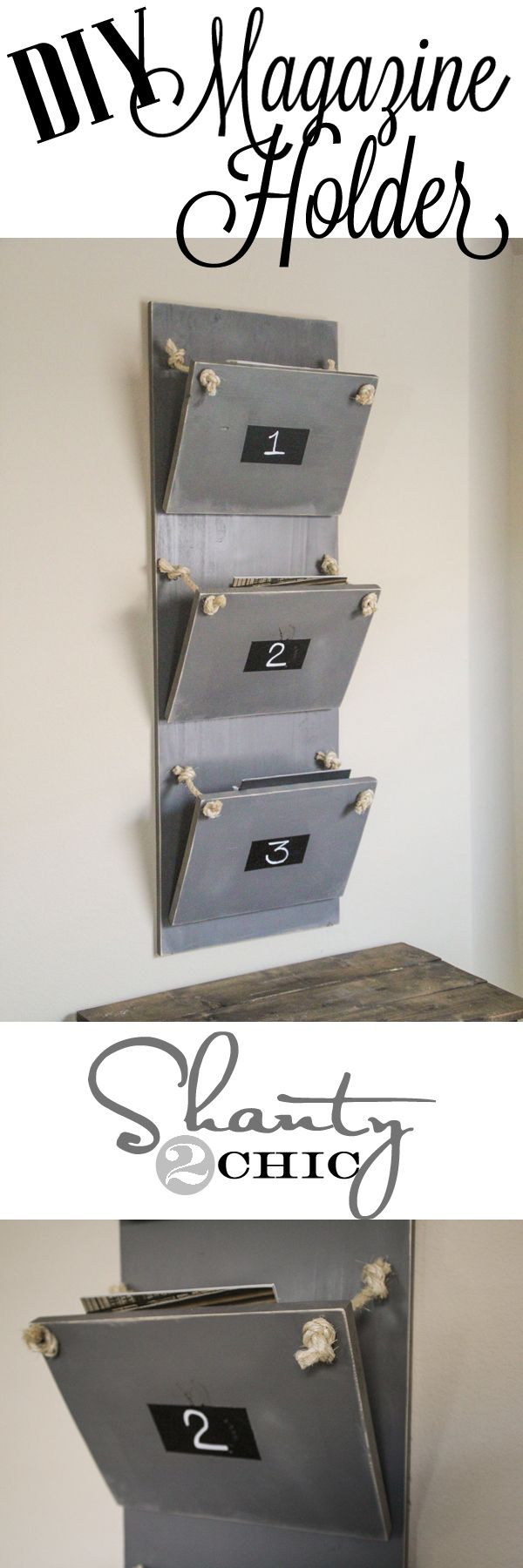 DIY Magazine Holder.  This looks so easy and cute!