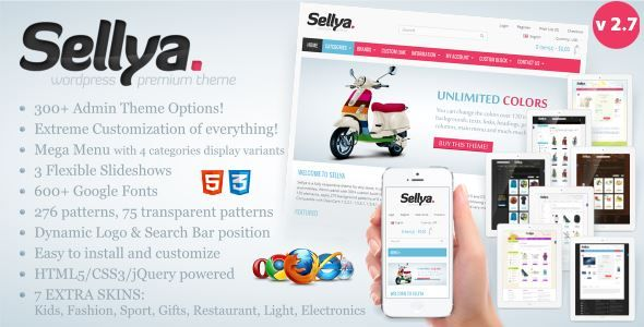 ThemeForest - Sellya - Responsive WooCommerce Theme Free Download