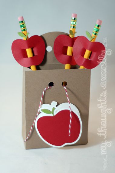 cute! 1st day of school teacher gift, or put a classroom donation need for back to school