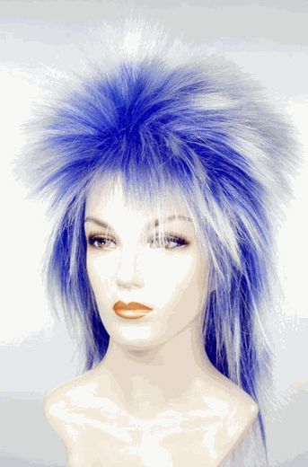 City Costume Wigs - Punk White and Blue Wig, $18.00 (http://www.citycostumewigs.com/punk-white-and-blue-wig/)