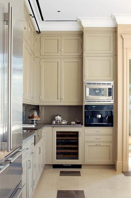17 best images about kitchen trim ideas on pinterest for Beige painted kitchen cabinets