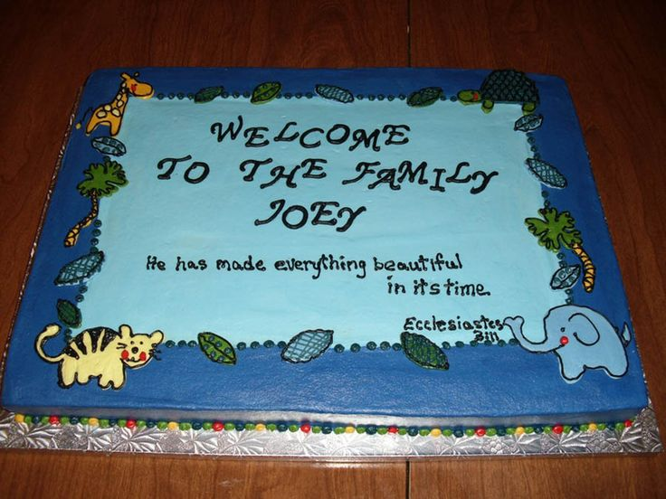 baby shower cake sayings for boy