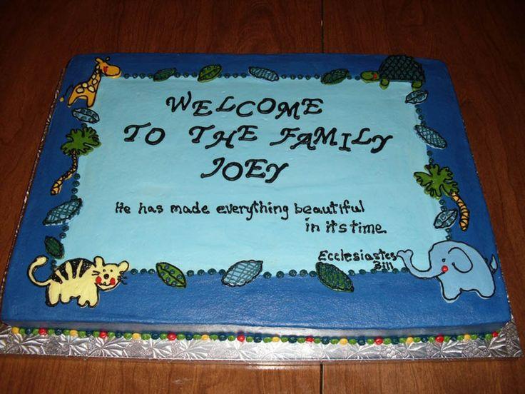 Baby Dedication Cake Sayings