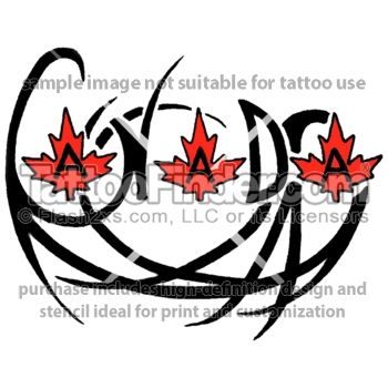 Canadian Lettering tattoo design by Melanie Paquin