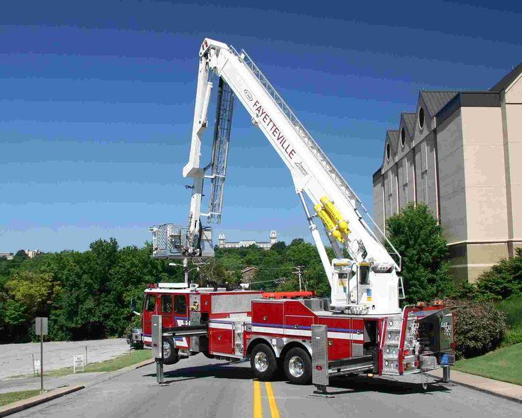 Fire Truck Engine ladder   Ladder-1 114ft E-ONE Bronto Skylift.