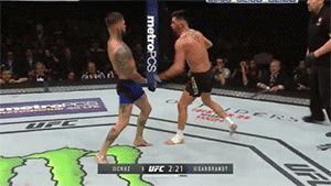 """Cody Garbrandt vs. Dominick Cruz UFC 207 (December 30, 2017) "" ""No Love"" dodging punches from the Dominator with good head movement, which helped him win the UFC Bantamweight Championship."