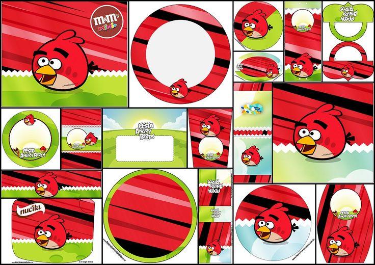 Angry Birds: Etiquetas Candy Bar para Imprimir Gratis. | Oh My Fiesta! Friki