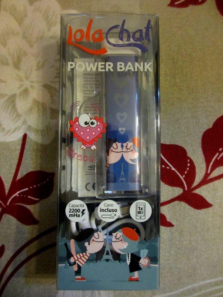 DI TUTTO UN PO': POWER BANK LOLACHAT GRACE: BATTERIA ESTERNA PER SM...