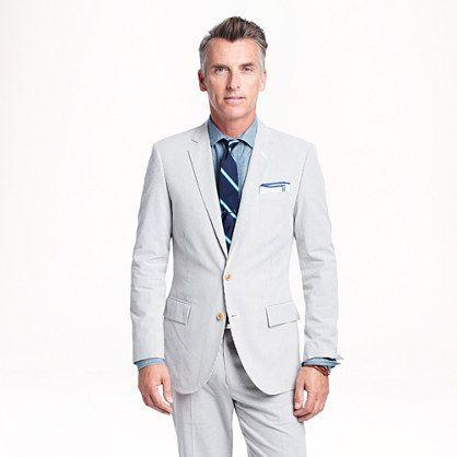 Crew Ludlow Suit Jacket In Anese Seerer Gray For Men Anchor Grey