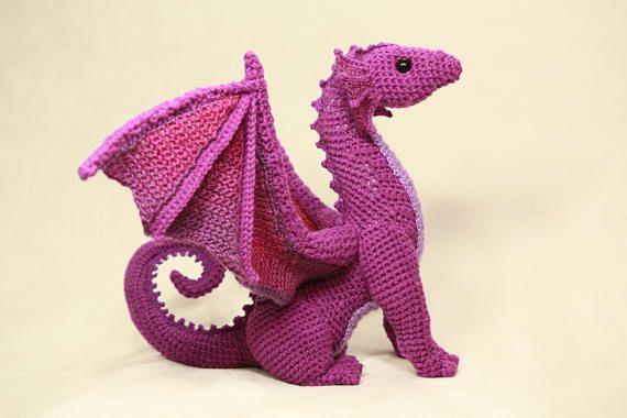 DIGITAL PDF Dragon Crochet Amigurumi Digital Pattern
