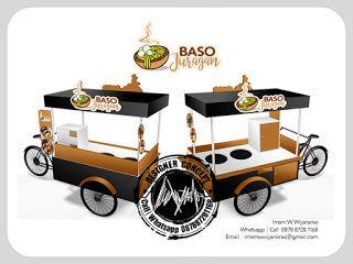 Desain Logo | Logo Kuliner |  Desain Gerobak | Jasa Desain dan Produksi Gerobak | Branding: Desain Gerobak Sepeda Baso Juragan