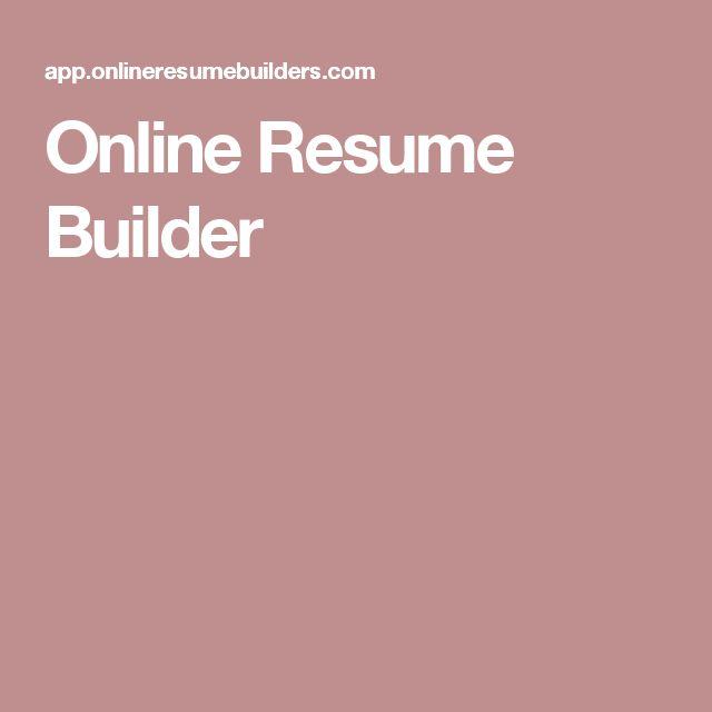 Best 25+ Online resume builder ideas only on Pinterest Free - resume online