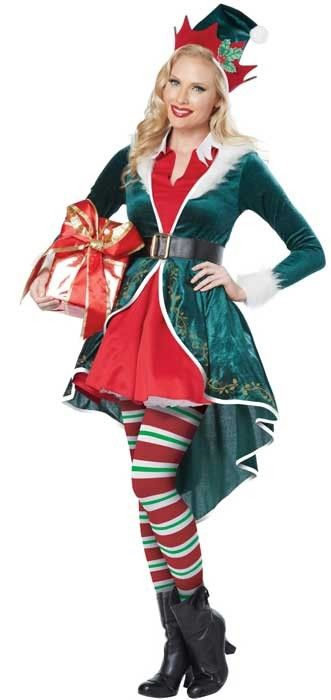 <p>Become Santa's adorable helper in this deluxe women's elf costume by California Costumes. This high quality <strong>women's sexy elf costume</strong> is perfect to spread some holiday cheer at your next Christmas costume party. See below for full description and size details.</p>