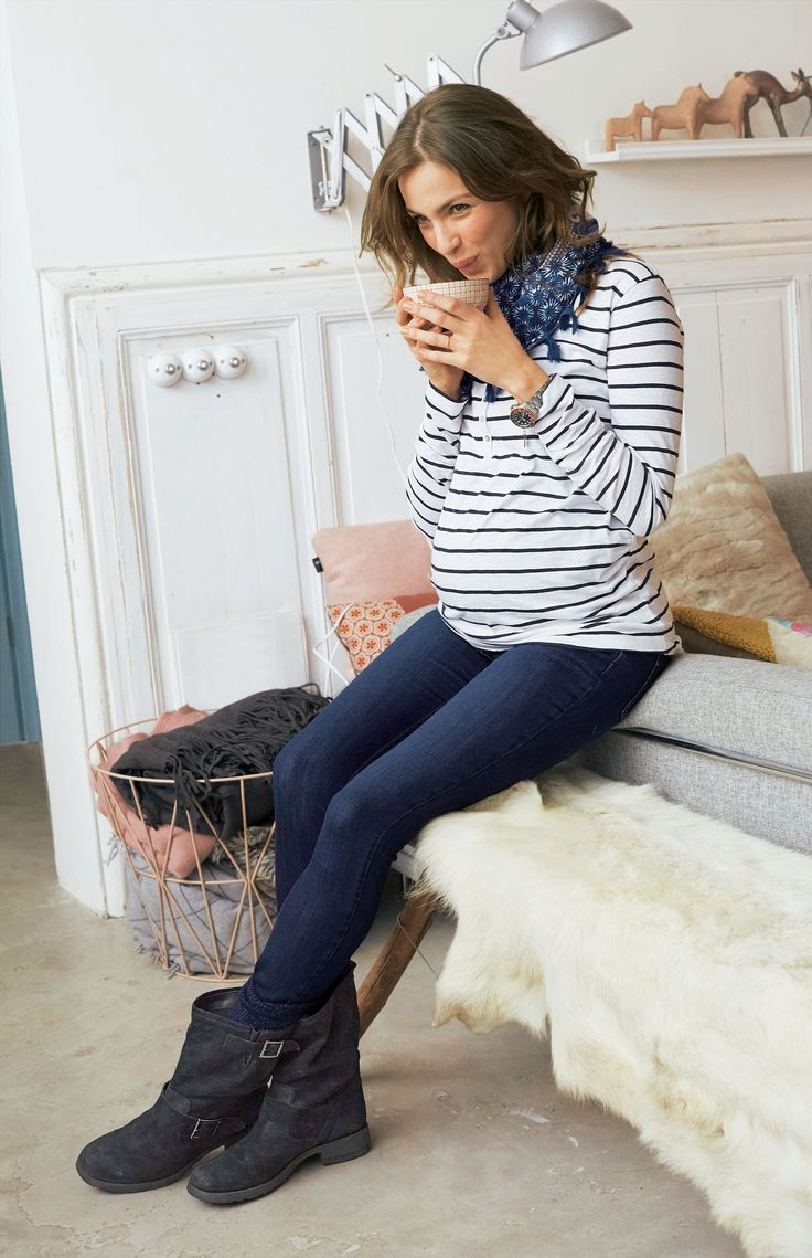 un jean slim pour femme enceinte - Collection Automne-Hiver 2015 Vert Baudet