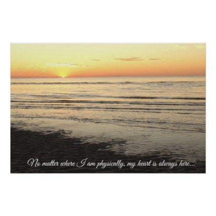 Beautiful Ocean Photography Sunset Quote Poster - ocean side nature waves freedom design