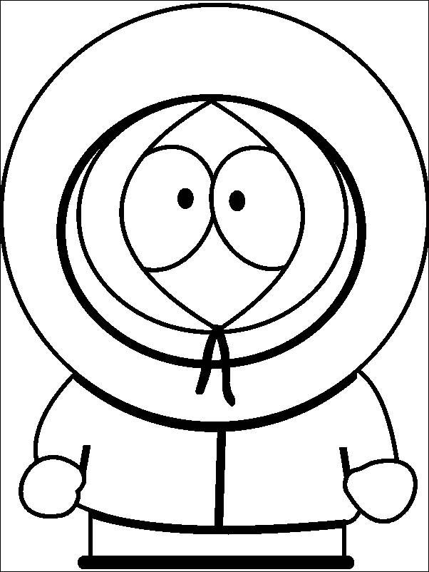 Free south park Coloring Pages For Kids | Kenny