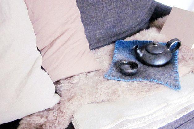 Gemütliche Teestunden: Handgefertigte Filzauflage aus 100% Wolle