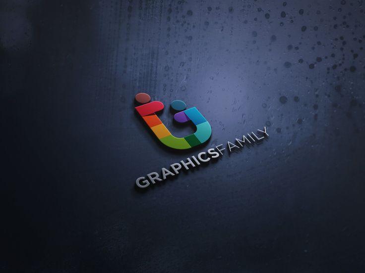 Modern 3d Logo Mock Up Graphicsfamily In 2021 Logo Mockup 3d Logo Free Logo Mockup