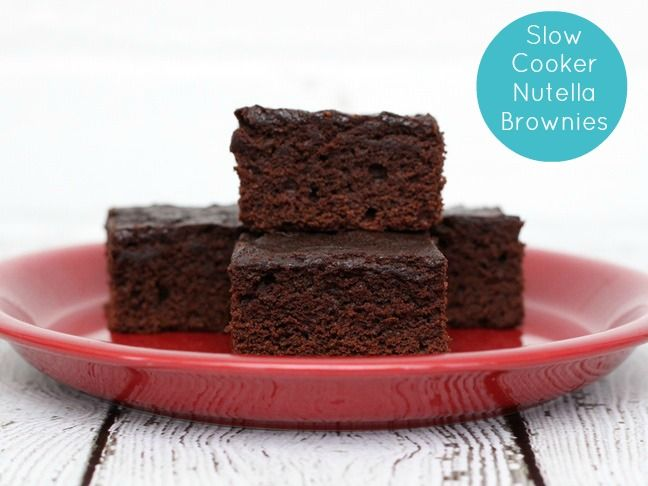 Slow Cooker Desserts: Nutella Brownie Recipe