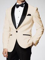 Downtown Ivory and Black Skyfall Tuxedo Jacket