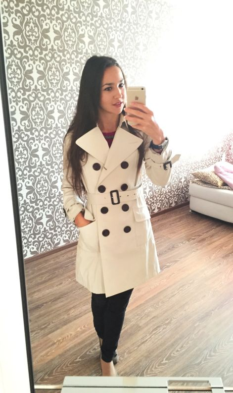 Begining of fall is perfect for trench coats! They match almost any style.