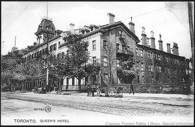 Queen's Hotel Toronto, Ontario, Canada (1910)    Toronto, Queen's Hotel    Creator: Valentine & Sons' Publishing  Date: 1910