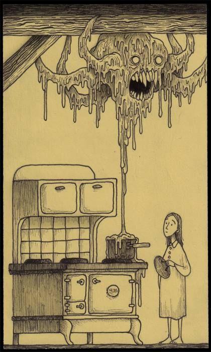 John Kenn Mortensen kitchen monster , lol, I love the whimsy of this one