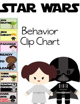 Star Wars Classroom Behavior Clip Chart!  Great Classroom and Behavior Management Resource