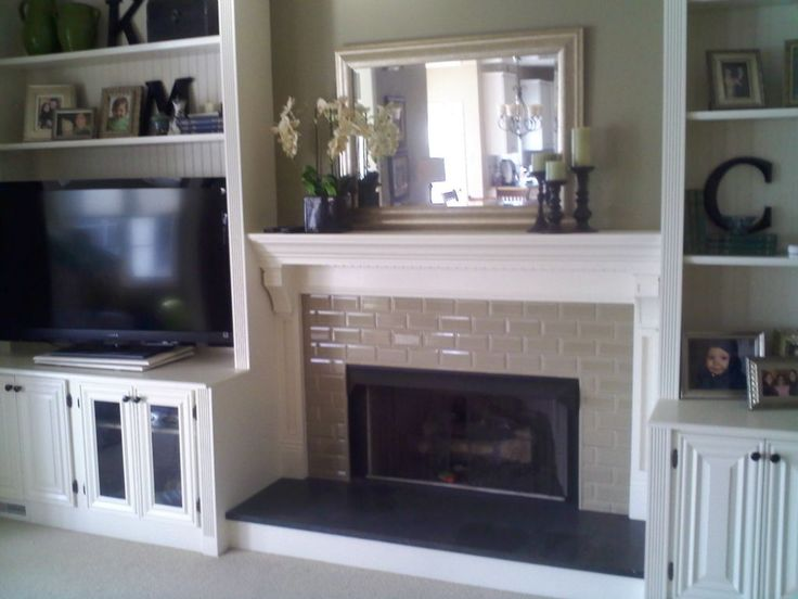 Fireplace With Built In Bookshelves Custom Trimwork And Painting Fireplace Mantels